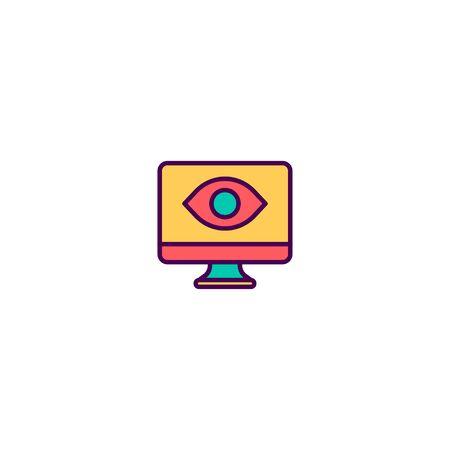Computer icon design. Marketing icon vector illustration