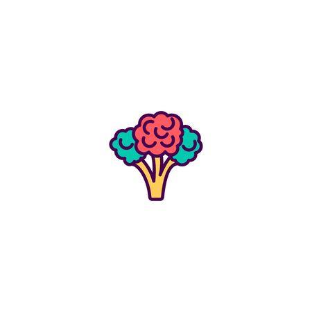 Broccoli icon design. Gastronomy icon vector illustration Illusztráció