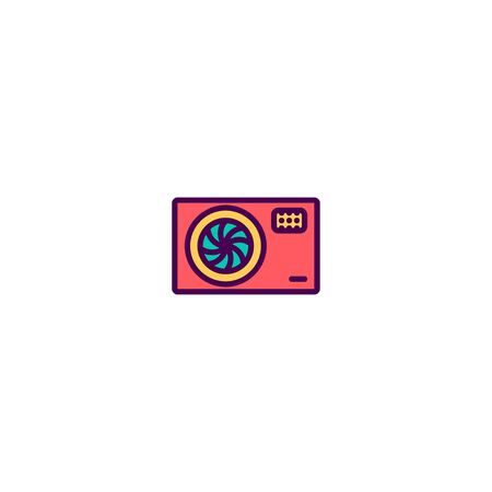 Photo Camera icon design. Photography and video icon vector illustration