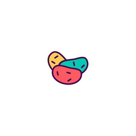 Potatoes icon design. Gastronomy icon vector illustration Illusztráció