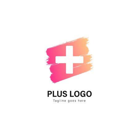 Medic logo template design. Medic logo with modern frame isolated on white background