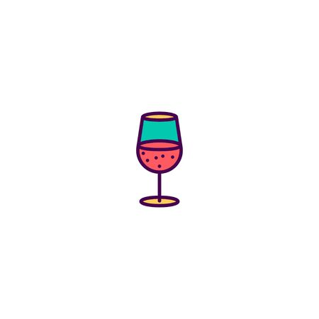 Glass icon design. Gastronomy icon vector illustration