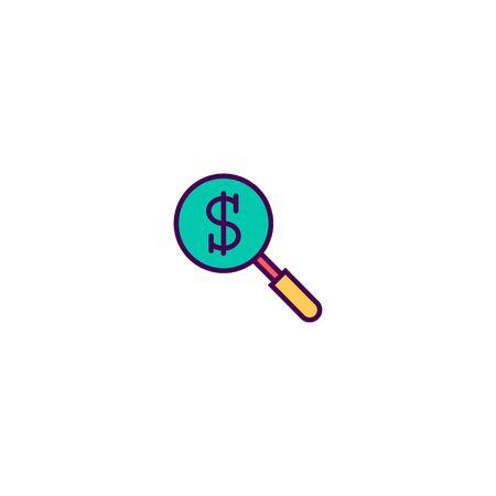 Search icon design. Marketing icon vector illustration