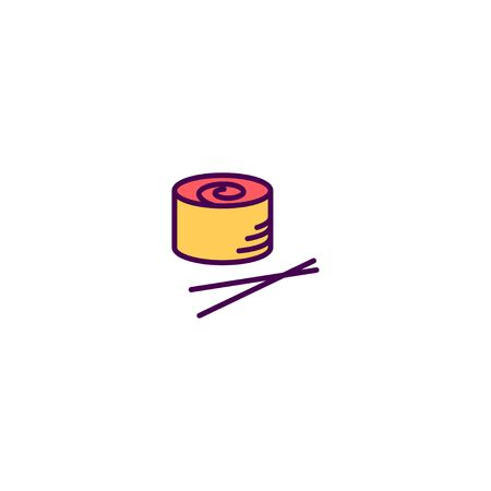 Sushi icon design. Gastronomy icon vector illustration