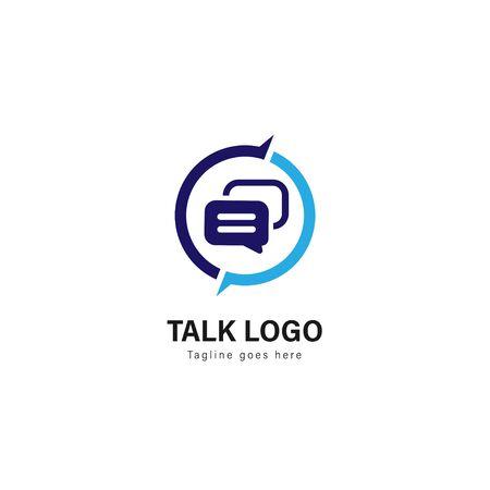 Talk logo template design. Talk logo with modern frame isolated on white background Illustration