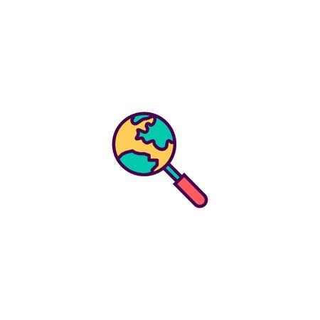 Search icon design. Marketing icon vector illustration Zdjęcie Seryjne - 129531128