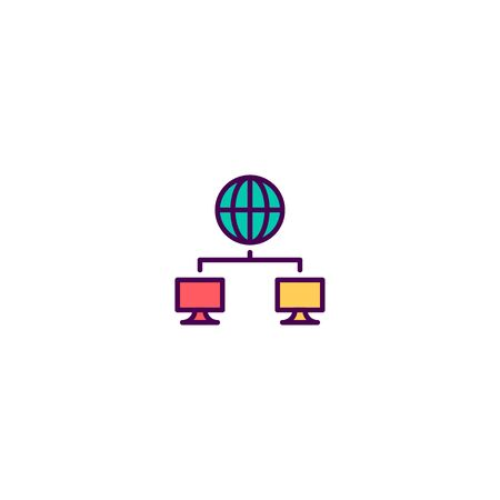 Networking icon design. Marketing icon vector illustration Stock Vector - 129531133
