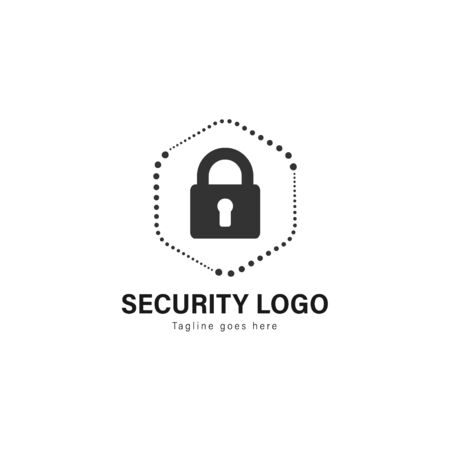 Security logo template design. Security logo with modern frame isolated on white background Иллюстрация