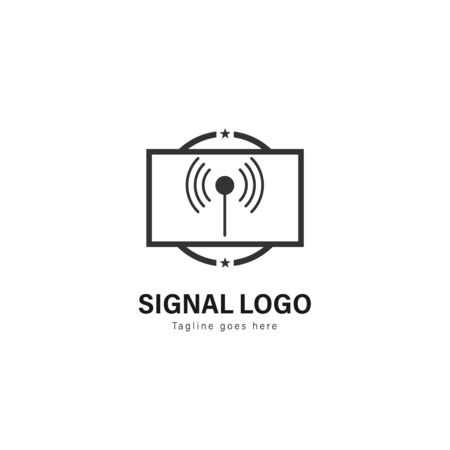 Signal logo template design. Signal logo with modern frame isolated on white background Zdjęcie Seryjne - 129531351