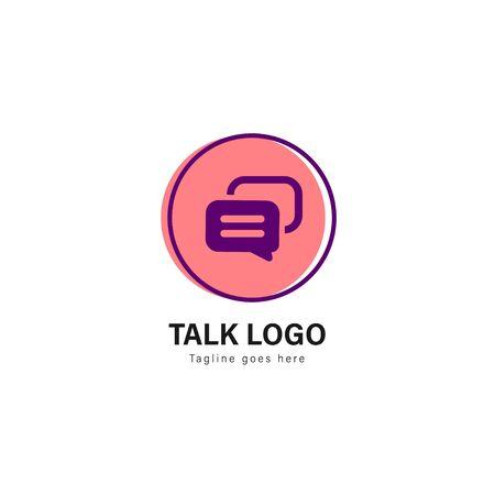 Talk logo template design. Talk logo with modern frame isolated on white background
