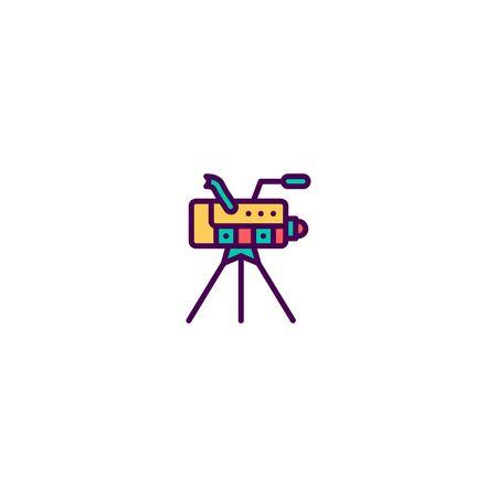 Video Camera icon design. Video icon vector illustration