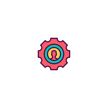 Setting icon design. Marketing icon vector illustration