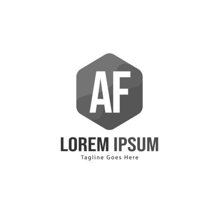 AF Letter Logo Design. Creative Modern AF Letters Icon Illustration Ilustração