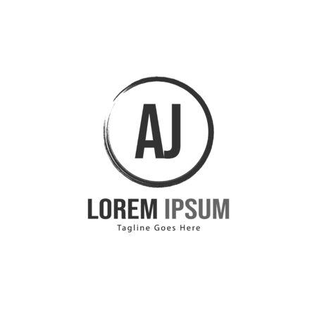 AJ Letter Logo Design. Creative Modern AJ Letters Icon Illustration