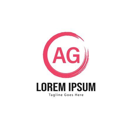 AG Letter Logo Design. Creative Modern AG Letters Icon Illustration