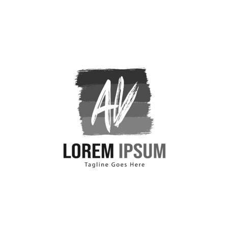 AV Letter Logo Design. Creative Modern AV Letters Icon Illustration