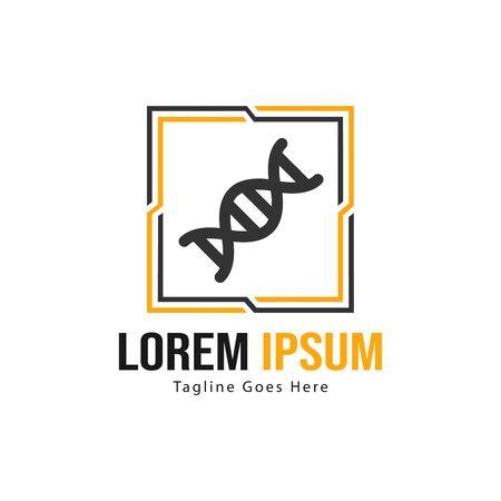 DNA logo template design with frame. minimalist DNA logo vector illustration Imagens - 129725213