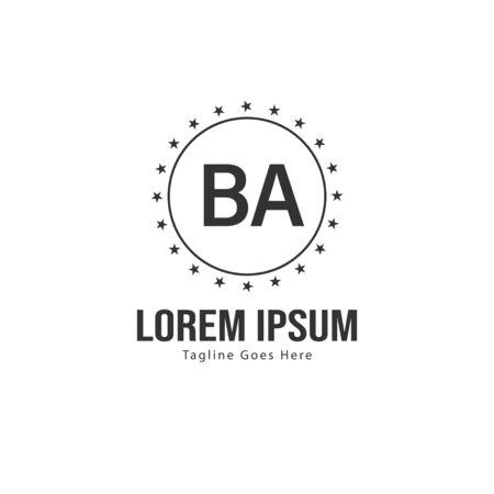 BA Letter Logo Design. Creative Modern BA Letters Icon Illustration