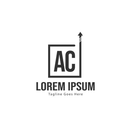 AC Letter Logo Design. Creative Modern AC Letters Icon Illustration