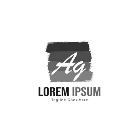 AG Letter Logo Design. Creative Modern AG Letters Icon Illustration Logo