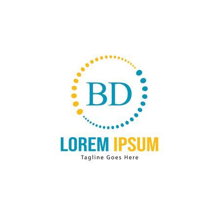 BD Letter Logo Design. Creative Modern BD Letters Icon Illustration