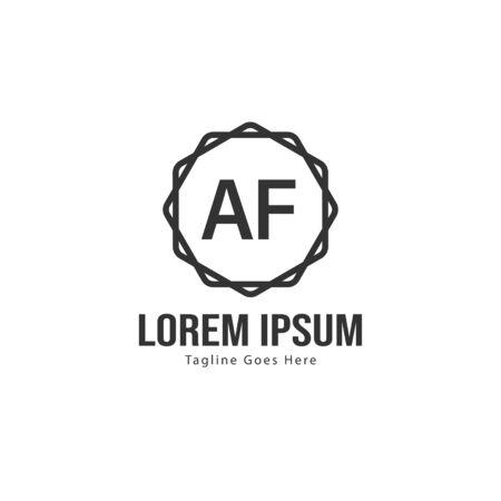 AF Letter Logo Design. Creative Modern AF Letters Icon Illustration 일러스트
