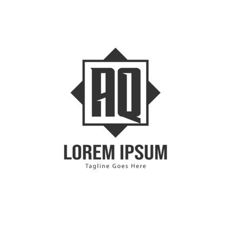AQ Letter Logo Design. Creative Modern AQ Letters Icon Illustration 일러스트