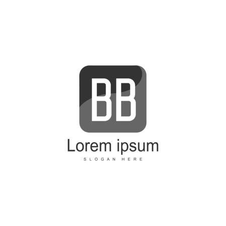 BB Letter Logo Design. Creative Modern BB Letters Icon Illustration