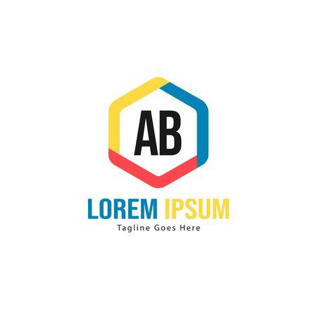 AB Letter Logo Design. Creative Modern AB Letters Icon Illustration Ilustração