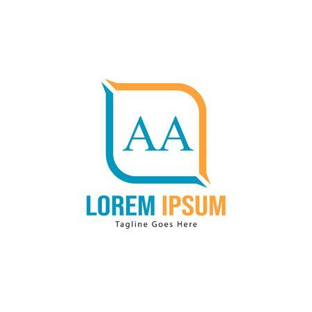 AA Letter Logo Design. Creative Modern AA Letters Icon Illustration