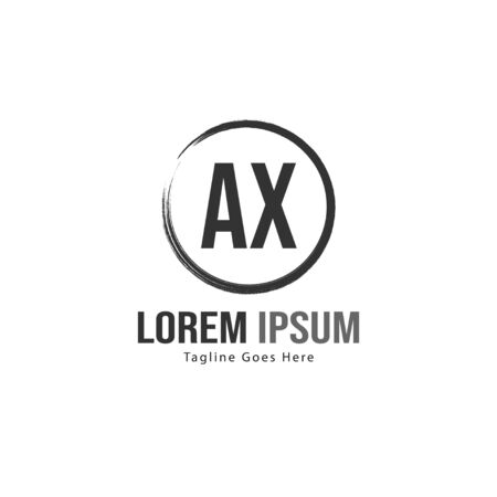 AX Letter Logo Design. Creative Modern AX Letters Icon Illustration