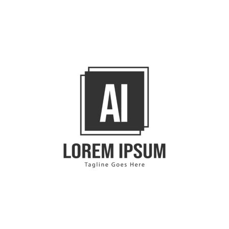 AI Letter Logo Design. Creative Modern AI Letters Icon Illustration