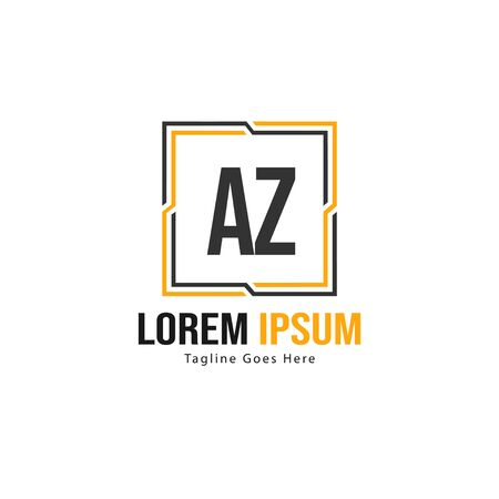 AZ Letter Logo Design. Creative Modern AZ Letters Icon Illustration Logo