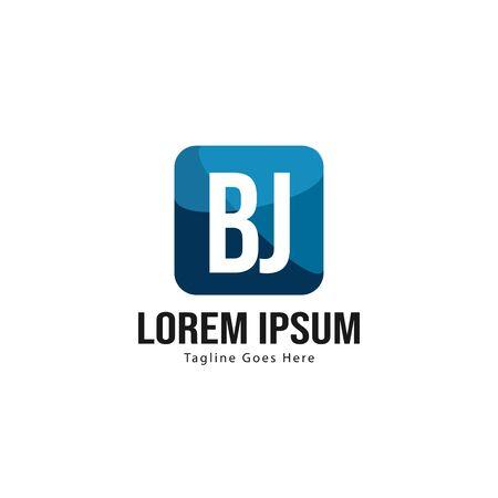 BJ Letter Logo Design. Creative Modern BJ Letters Icon Illustration