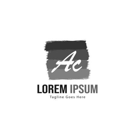 AC Letter Logo Design. Creative Modern AC Letters Icon Illustration