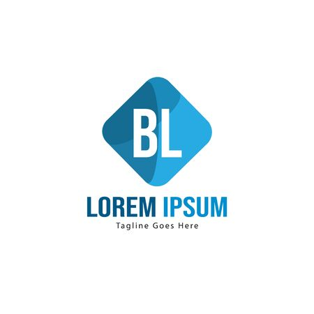 BL Letter Logo Design. Creative Modern BL Letters Icon Illustration