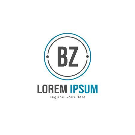 BZ Letter Logo Design. Creative Modern BZ Letters Icon Illustration Illusztráció