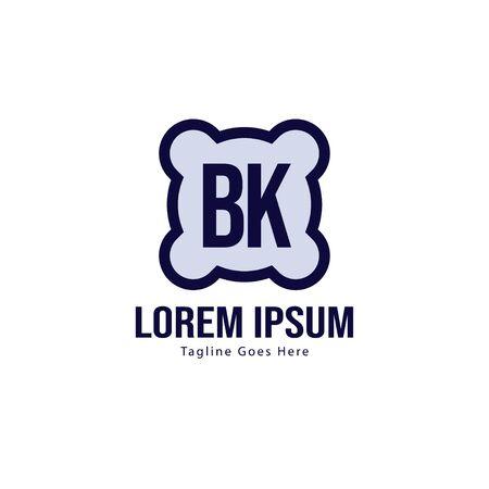 BK Letter Logo Design. Creative Modern BK Letters Icon Illustration Illusztráció
