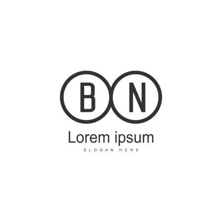 BN Letter Logo Design. Creative Modern BN Letters Icon Illustration