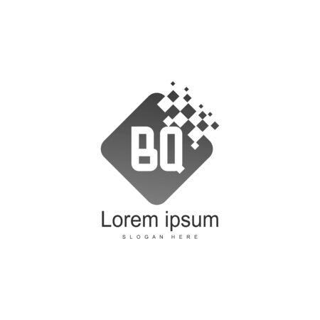 BQ Letter Logo Design. Creative Modern BQ Letters Icon Illustration Illusztráció