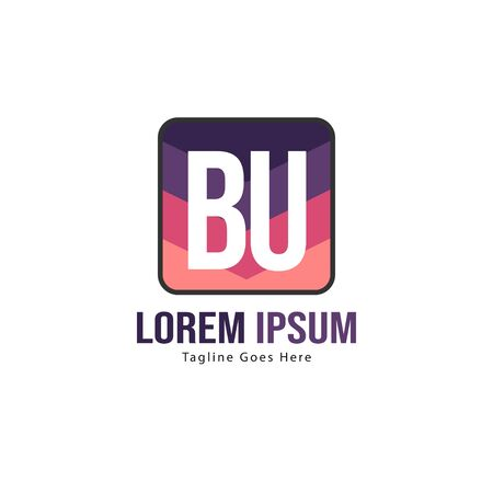 BU Letter Logo Design. Creative Modern BU Letters Icon Illustration Stock fotó - 129279376