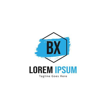 BX Letter Logo Design. Creative Modern BX Letters Icon Illustration Illusztráció