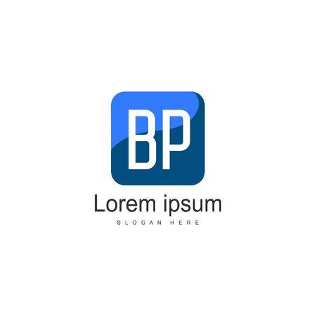 BP Letter Logo Design. Creative Modern BP Letters Icon Illustration Illusztráció