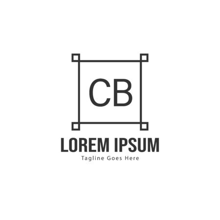 Initial CB logo template with modern frame. Minimalist CB letter logo vector illustration Stock fotó - 129279445