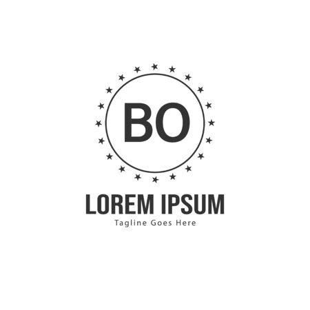 BO Letter Logo Design. Creative Modern BO Letters Icon Illustration Illusztráció