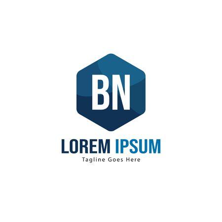 BN Letter Logo Design. Creative Modern BN Letters Icon Illustration Stock fotó - 129279524