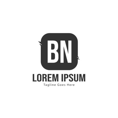 BN Letter Logo Design. Creative Modern BN Letters Icon Illustration Stock fotó - 129279560