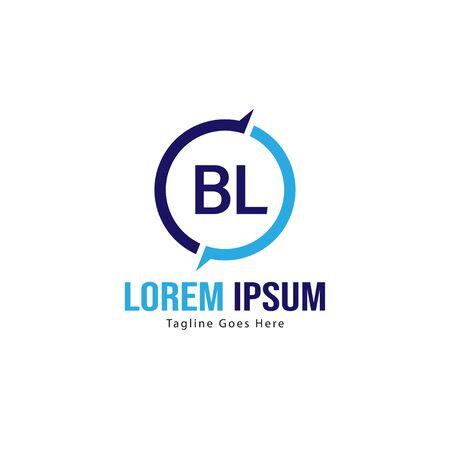 BL Letter Logo Design. Creative Modern BL Letters Icon Illustration Logó