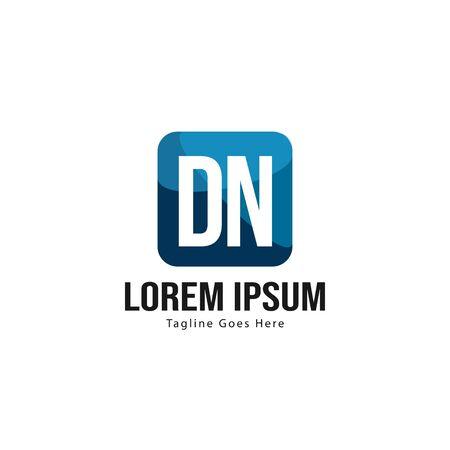 Initial DN logo template with modern frame. Minimalist DN letter logo vector illustration Logo