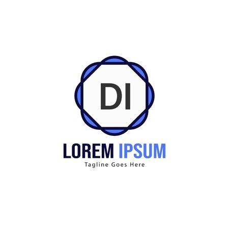 DI Letter Logo Design. Creative Modern DI Letters Icon Illustration Stok Fotoğraf - 129891685